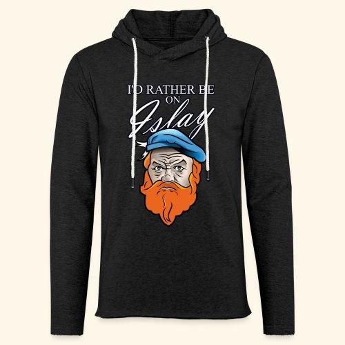 Whisky Fan T-Shirt I'd rather be on Islay - Leichtes Kapuzensweatshirt Unisex