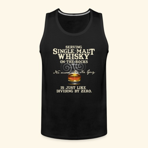 Whisky-T-Shirt Single Malt Whisky - Männer Premium Tank Top
