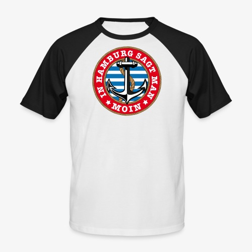 In Hamburg sagt man Moin Anker Seil Shirt 77 - Männer Baseball-T-Shirt
