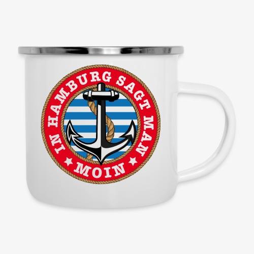 In Hamburg sagt man Moin Anker Seil Shirt 77 - Emaille-Tasse
