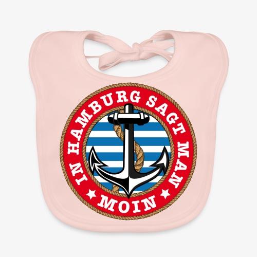 In Hamburg sagt man Moin Anker Seil Shirt 77 - Baby Bio-Lätzchen