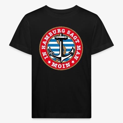 In Hamburg sagt man Moin Anker Seil Shirt 77 - Kinder Bio-T-Shirt