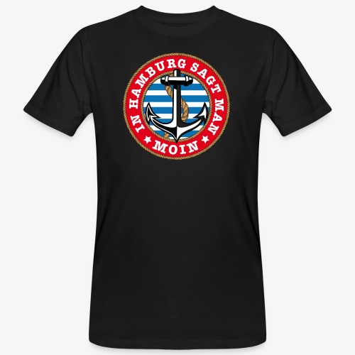 In Hamburg sagt man Moin Anker Seil Shirt 77 - Männer Bio-T-Shirt