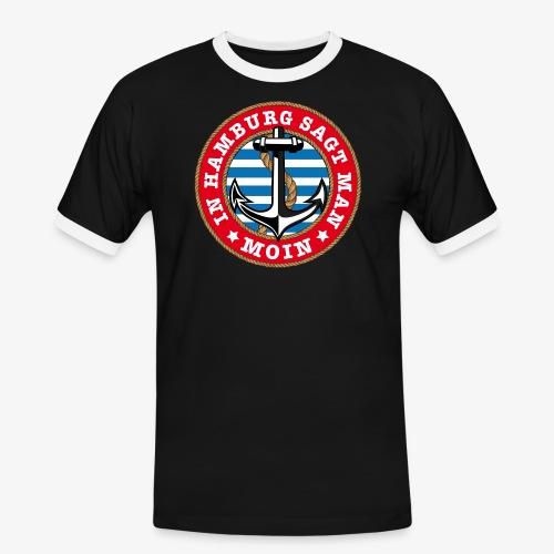 In Hamburg sagt man Moin Anker Seil Shirt 77 - Männer Kontrast-T-Shirt