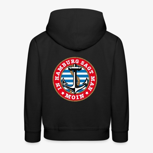 In Hamburg sagt man Moin Anker Seil Shirt 77 - Kinder Premium Hoodie