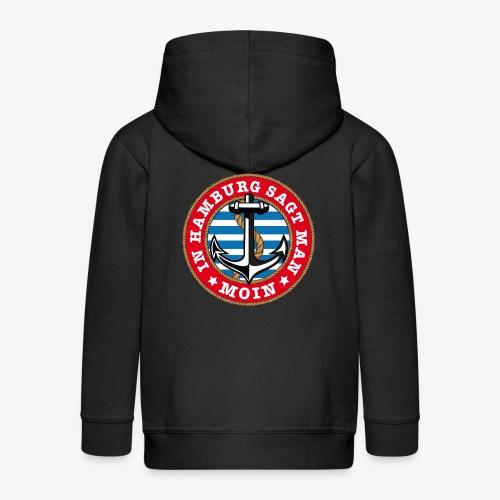 In Hamburg sagt man Moin Anker Seil Shirt 77 - Kinder Premium Kapuzenjacke