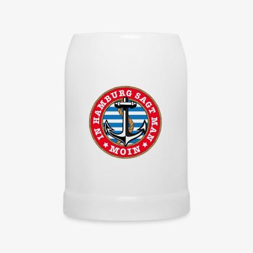 In Hamburg sagt man Moin Anker Seil Shirt 77 - Bierkrug
