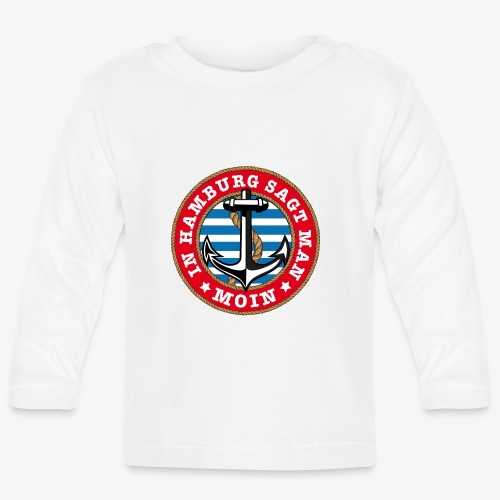 In Hamburg sagt man Moin Anker Seil Shirt 77 - Baby Langarmshirt