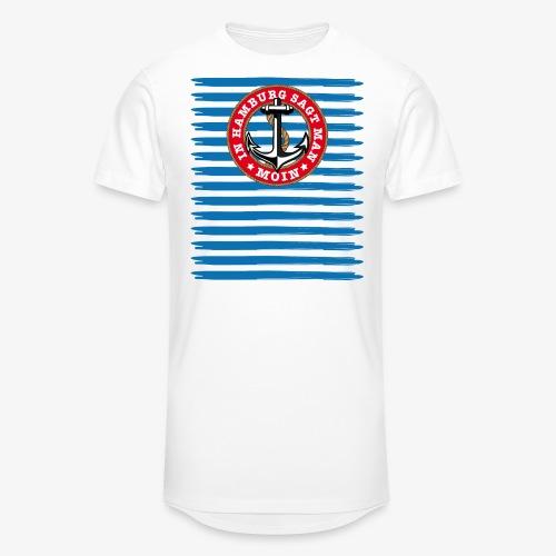 In Hamburg sagt man Moin Anker Seil Shirt 79 - Männer Urban Longshirt
