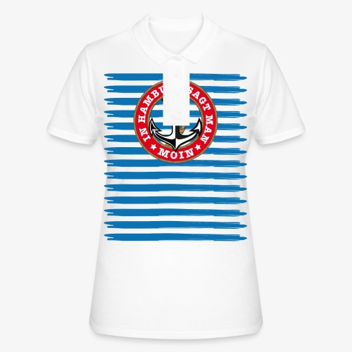 In Hamburg sagt man Moin Anker Seil Shirt 79 - Frauen Polo Shirt