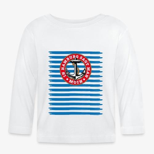 In Hamburg sagt man Moin Anker Seil Shirt 79 - Baby Langarmshirt