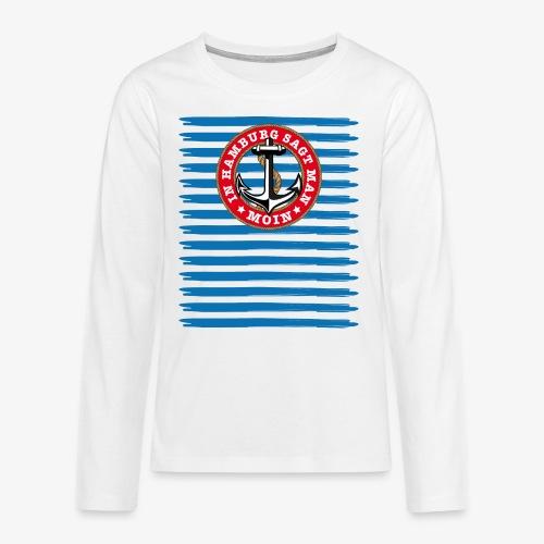 In Hamburg sagt man Moin Anker Seil Shirt 79 - Teenager Premium Langarmshirt