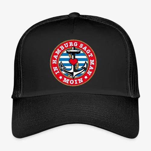 In Hamburg sagt man Moin Anker Seil Herz Shirt 78 - Trucker Cap