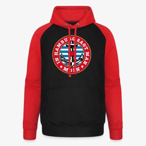 In Hamburg sagt man Moin Anker Seil Herz Shirt 78 - Unisex Baseball Hoodie