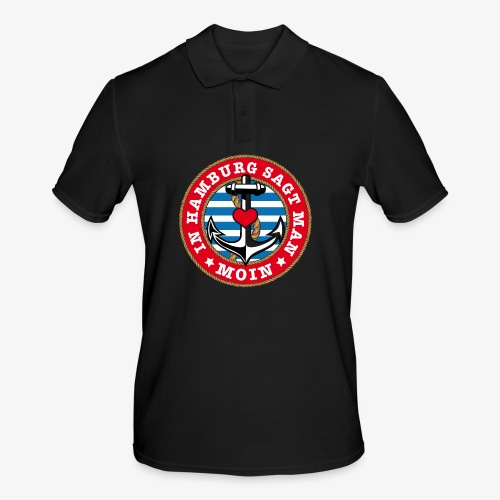 In Hamburg sagt man Moin Anker Seil Herz Shirt 78 - Männer Poloshirt