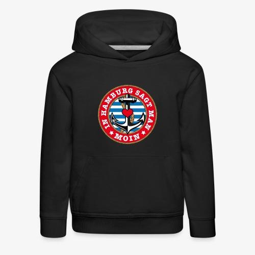 In Hamburg sagt man Moin Anker Seil Herz Shirt 78 - Kinder Premium Hoodie