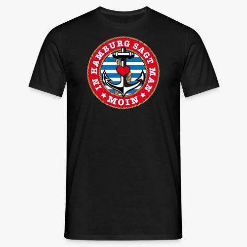 In Hamburg sagt man Moin Anker Seil Herz Shirt 78 - Männer T-Shirt