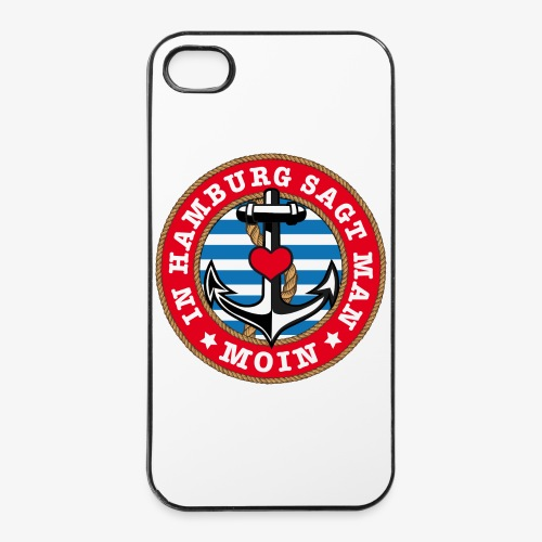 In Hamburg sagt man Moin Anker Seil Herz Shirt 78 - iPhone 4/4s Hard Case