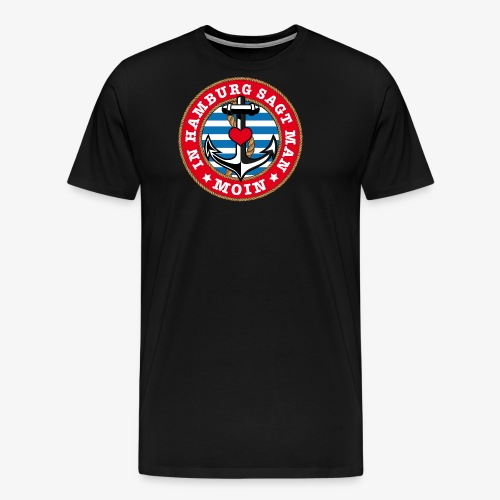 In Hamburg sagt man Moin Anker Seil Herz Shirt 78 - Männer Premium T-Shirt
