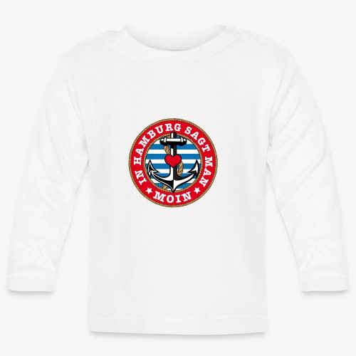In Hamburg sagt man Moin Anker Seil Herz Shirt 78 - Baby Langarmshirt