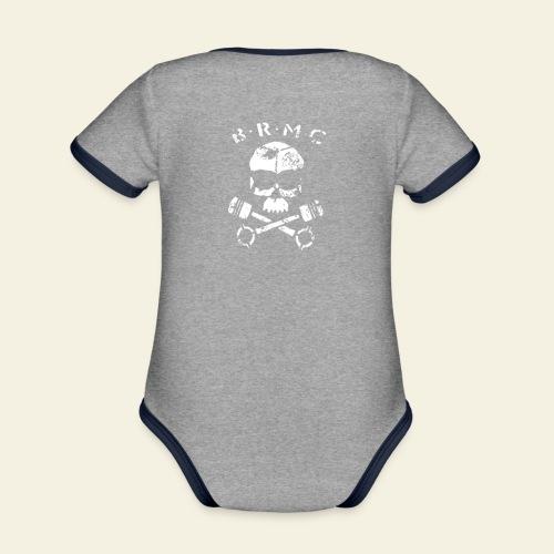 BRMC - Kortærmet ækologisk babybody i kontrastfarver