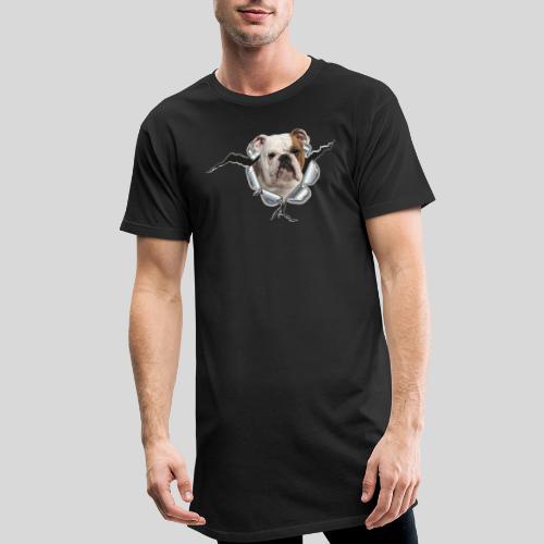Englische Bulldogge *Metall-Loch* - Männer Urban Longshirt