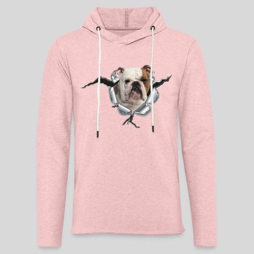 Englische Bulldogge *Metall-Loch* - Leichtes Kapuzensweatshirt Unisex