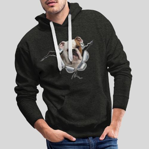 Englische Bulldogge *Metall-Loch* - Männer Premium Hoodie