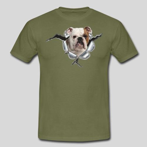 Englische Bulldogge *Metall-Loch* - Männer T-Shirt