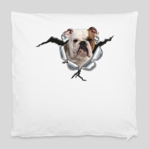 Englische Bulldogge *Metall-Loch* - Kissenbezug 40 x 40 cm