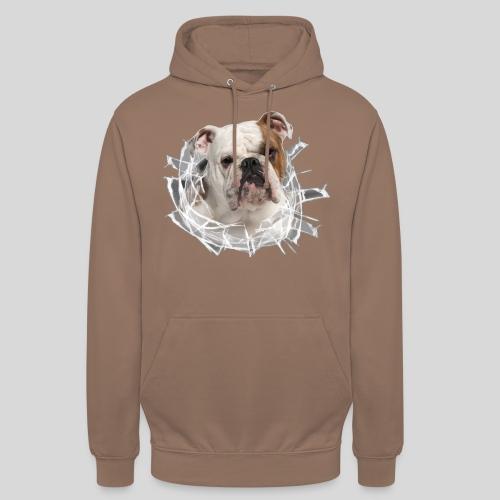 Englische Bulldogge *Glas-Loch* - Unisex Hoodie