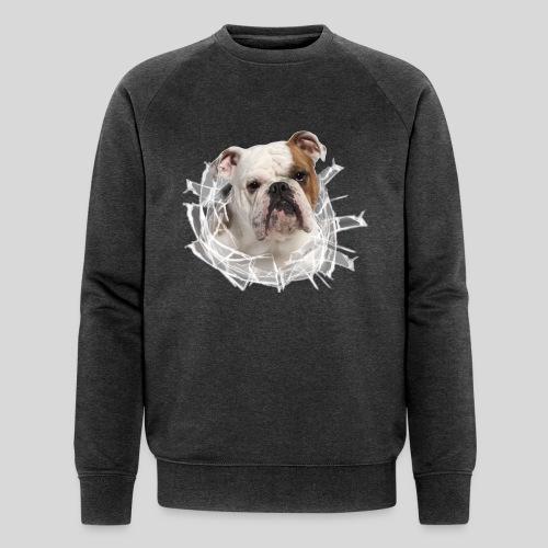 Englische Bulldogge *Glas-Loch* - Männer Bio-Sweatshirt von Stanley & Stella
