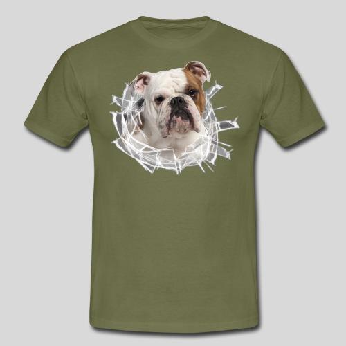 Englische Bulldogge *Glas-Loch* - Männer T-Shirt