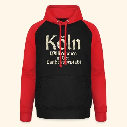 Köln T-Shirt für Düsseldorfer - Unisex Baseball Hoodie