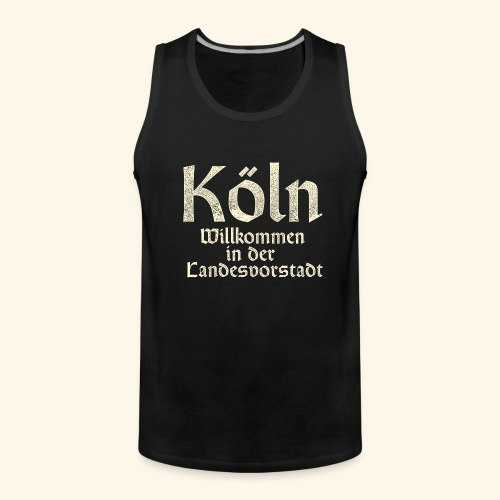 Köln T-Shirt für Düsseldorfer - Männer Premium Tank Top