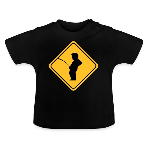 Manneken Pis sign - T-shirt Bébé