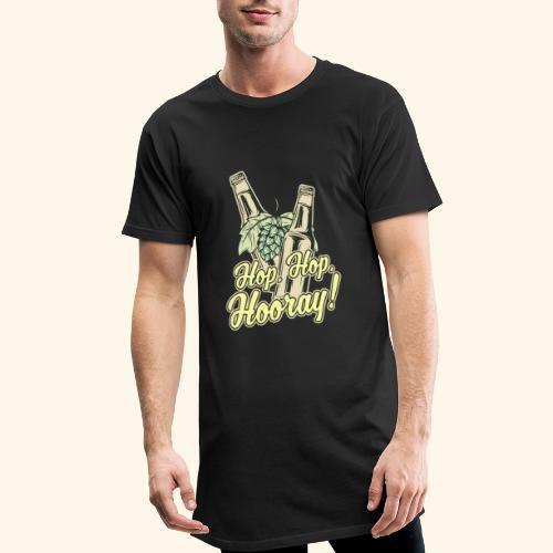 Craft Beer T-Shirt Hop, Hop, Hooray! - Männer Urban Longshirt