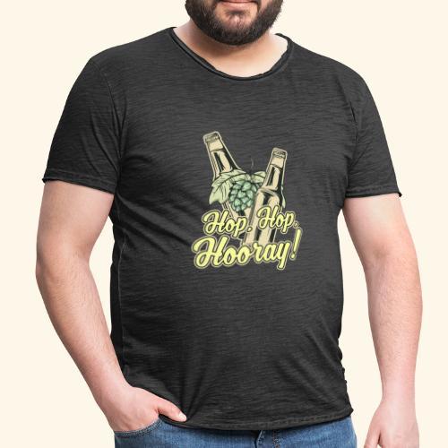 Craft Beer T-Shirt Hop, Hop, Hooray! - Männer Vintage T-Shirt