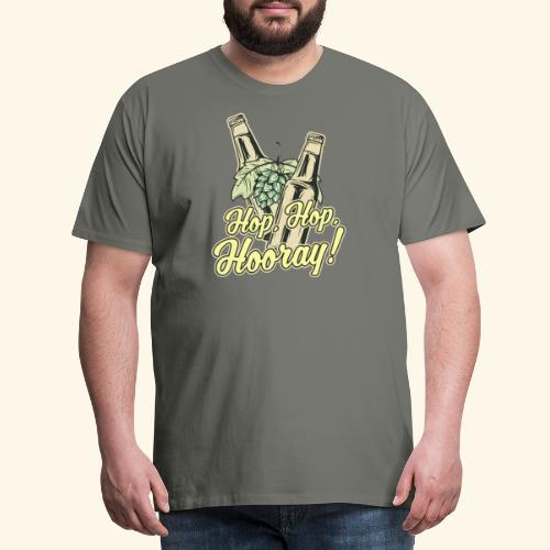 Craft Beer T-Shirt Hop, Hop, Hooray! - Männer Premium T-Shirt
