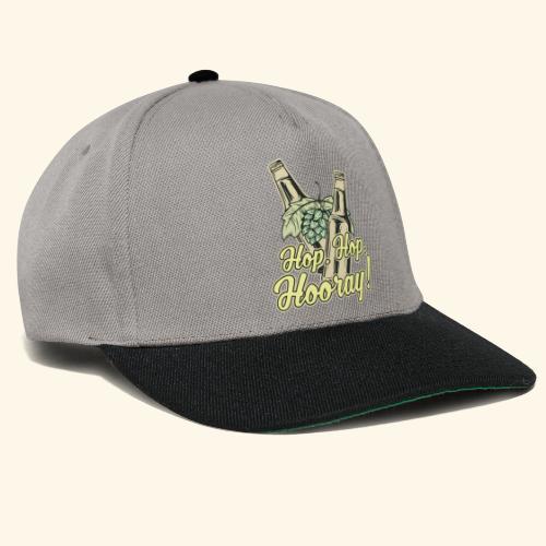 Craft Beer T-Shirt Hop, Hop, Hooray! - Snapback Cap