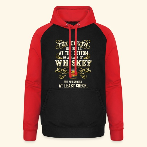 Whiskey T-Shirt - Great Gift Idea! - Unisex Baseball Hoodie