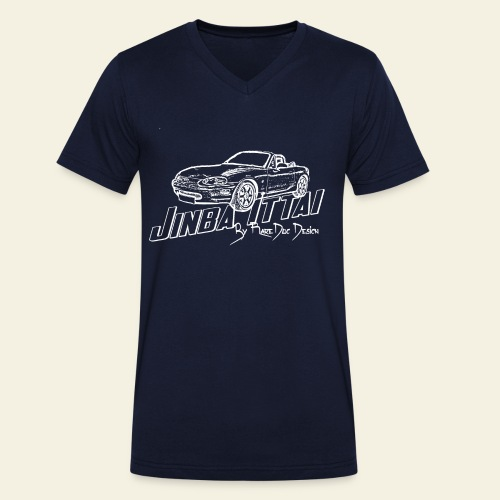 MX-5 NB Jinba Ittai - Økologisk Stanley & Stella T-shirt med V-udskæring til herrer