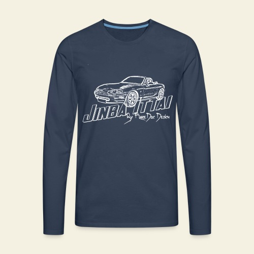 MX-5 NB Jinba Ittai - Herre premium T-shirt med lange ærmer