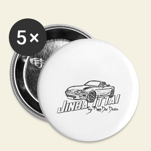 MX-5 NB Jinba Ittai - Buttons/Badges stor, 56 mm (5-pack)