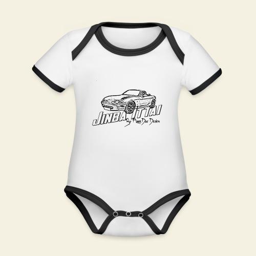 MX-5 NB Jinba Ittai - Kortærmet ækologisk babybody i kontrastfarver