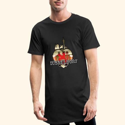 Düsseldorf-T-Shirt Düsselherz - Geschenkidee! - Männer Urban Longshirt
