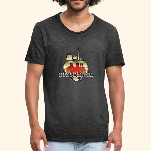 Düsseldorf-T-Shirt Düsselherz - Geschenkidee! - Männer Vintage T-Shirt
