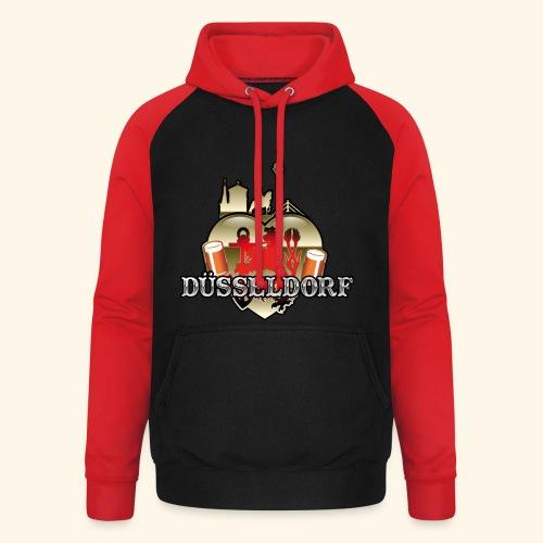 Düsseldorf-T-Shirt Düsselherz - Geschenkidee! - Unisex Baseball Hoodie