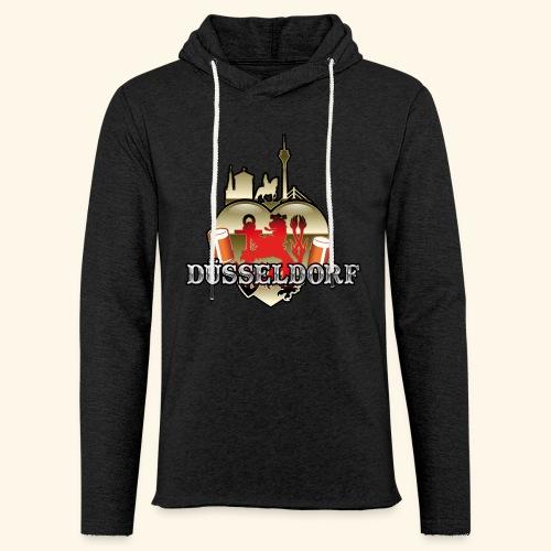 Düsseldorf-T-Shirt Düsselherz - Geschenkidee! - Leichtes Kapuzensweatshirt Unisex