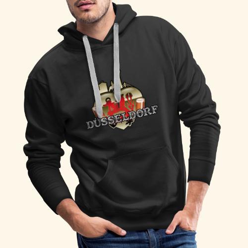 Düsseldorf-T-Shirt Düsselherz - Geschenkidee! - Männer Premium Hoodie